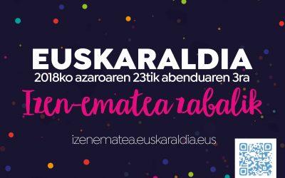 Irailaren 20tik zabalik dago Euskaraldian parte hartzeko izena emateko epea.